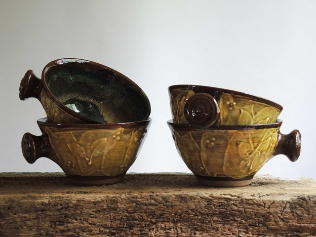 Amber Ribbon & Leaves Jaybowls