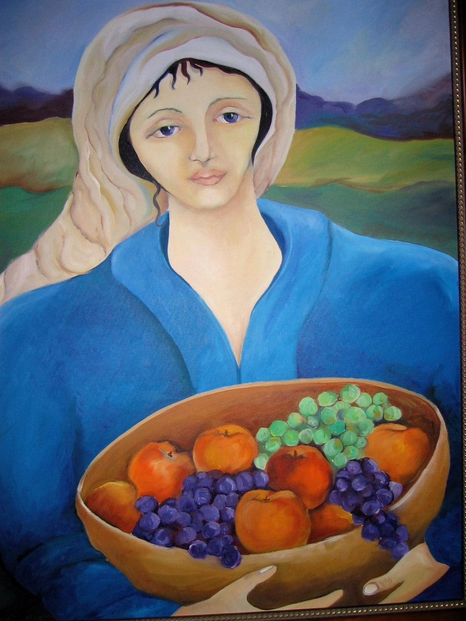 Woman bearing fruit